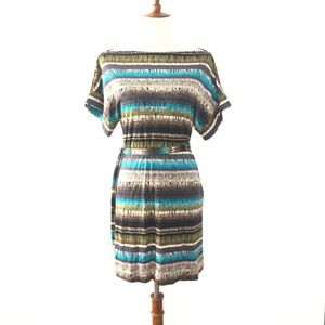 Trina Turk Boat Neck A Line Dress Medium